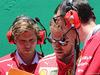 GP BRASILE, 12.11.2017 - Gara, Antti Kontsas (FIN) Sebastian Vettel Personal Trainer, Sebastian Vettel (GER) Ferrari SF70H e Riccardo Adami (ITA) Ferrari Gara Engineer