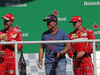 GP BRASILE, 12.11.2017 - Gara, Sebastian Vettel (GER) Ferrari SF70H, Rubens Barrichello (BRA) e Kimi Raikkonen (FIN) Ferrari SF70H