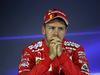 GP BRASILE, 11.11.2017 - Qualifiche, Conferenza Stampa, Sebastian Vettel (GER) Ferrari SF70H