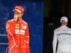 GP BRASILE, 11.11.2017 - Qualifiche, 2nd place Sebastian Vettel (GER) Ferrari SF70H e Valtteri Bottas (FIN) Mercedes AMG F1 W08 pole position