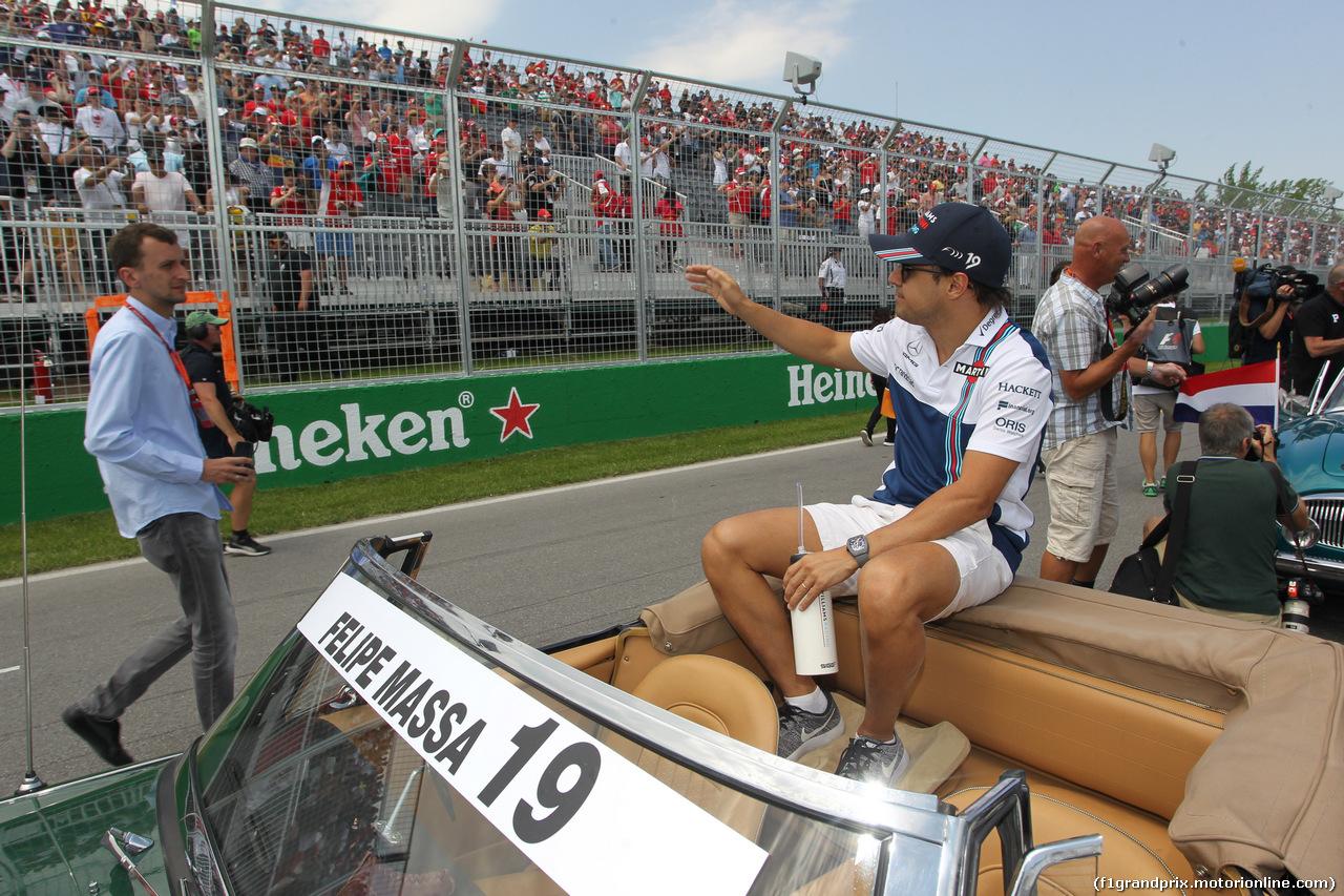 GP CANADA, 11.06.2017- Felipe Massa (BRA) Williams F1 Team FW40