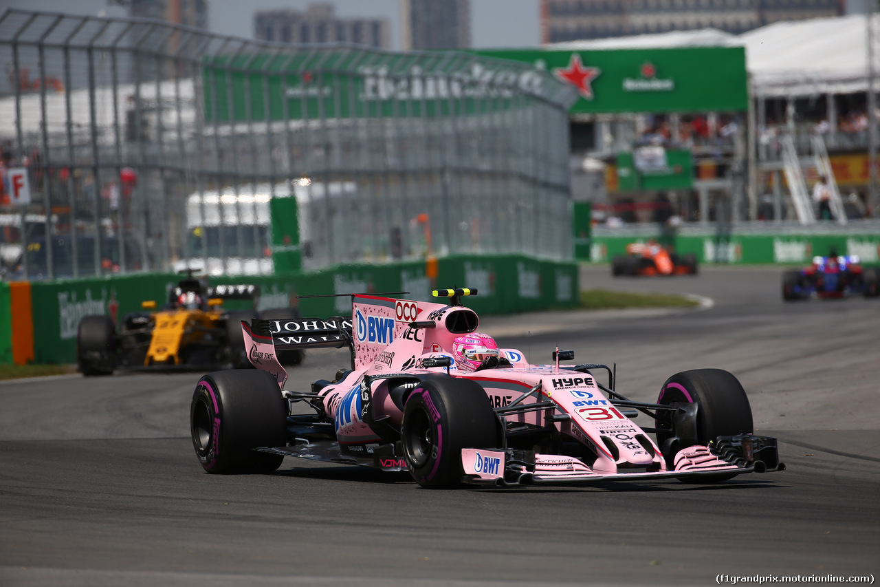 GP CANADA, 11.06.2017- Gara, Esteban Ocon (FRA) Sahara Force India F1 VJM10