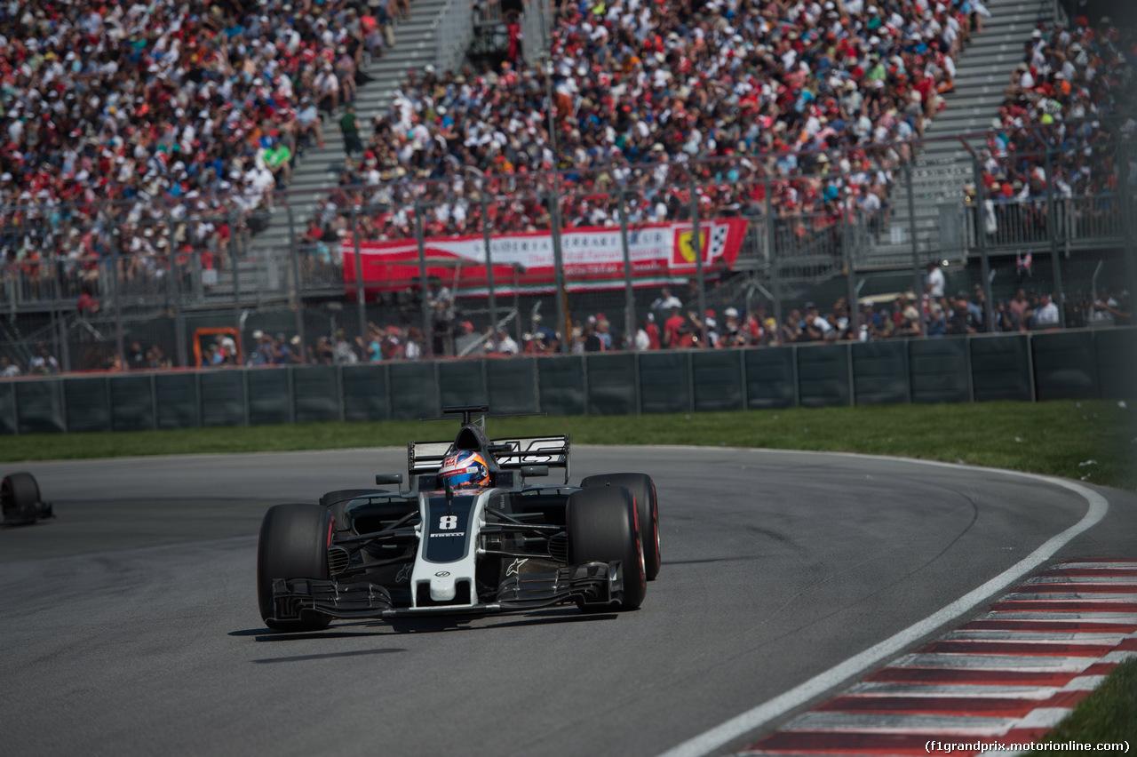GP CANADA, 11.06.2017- Gara, Romain Grosjean (FRA) Haas F1 Team VF-17