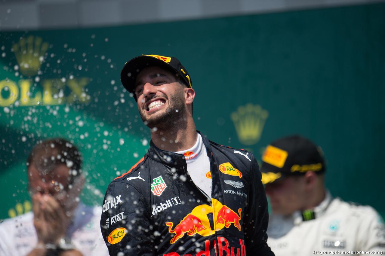 GP CANADA, 11.06.2017- Podium, 3rd Daniel Ricciardo (AUS) Red Bull Racing RB13