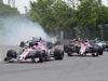 GP CANADA, 11.06.2017- Gara, Sergio Perez (MEX) Sahara Force India F1 VJM010 behind Carlos Sainz Jr (ESP) Scuderia Toro Rosso STR12 crash