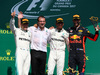 GP CANADA, 11.06.2017- Podium, 11.06.2017- Podium, Winner Lewis Hamilton (GBR) Mercedes AMG F1 W08 , 2nd Valtteri Bottas (FIN) Mercedes AMG F1 W08, 3rd Daniel Ricciardo (AUS) Red Bull Racing RB13 with the Mercedes Team Representative