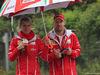 GP CINA, 09.04.2017 - Britta Roeske (AUT) Ferrari Press Officer. e Sebastian Vettel (GER) Ferrari SF70H