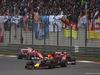 GP CINA, 09.04.2017 - Gara, Daniel Ricciardo (AUS) Red Bull Racing RB13 davanti a Kimi Raikkonen (FIN) Ferrari SF70H e Sebastian Vettel (GER) Ferrari SF70H