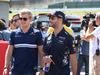 GP GIAPPONE, 08.10.2017- driver parade, Daniel Ricciardo (AUS) Red Bull Racing RB13 e Marcus Ericsson (SUE) Sauber C35