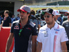 GP GIAPPONE, 08.10.2017- driver parade, Carlos Sainz Jr (ESP) Scuderia Toro Rosso STR12 e Sergio Perez (MEX) Sahara Force India F1 VJM010