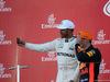 GP GIAPPONE, 08.10.2017- Gara, the podium: winner Lewis Hamilton (GBR) Mercedes AMG F1 W08 , 2nd Max Verstappen (NED) Red Bull Racing RB13