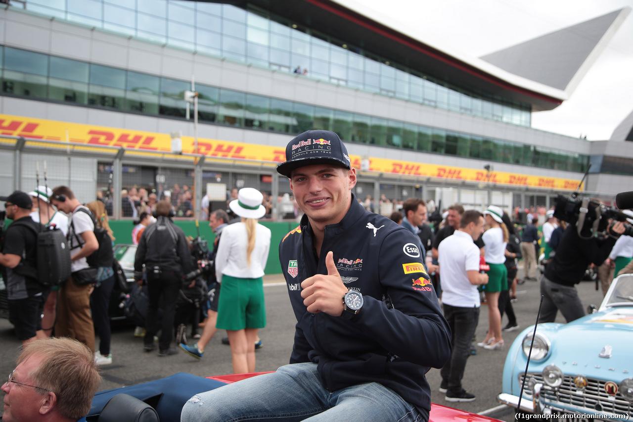 GP GRAN BRETAGNA, 16.07.2017 - Max Verstappen (NED) Red Bull Racing RB13