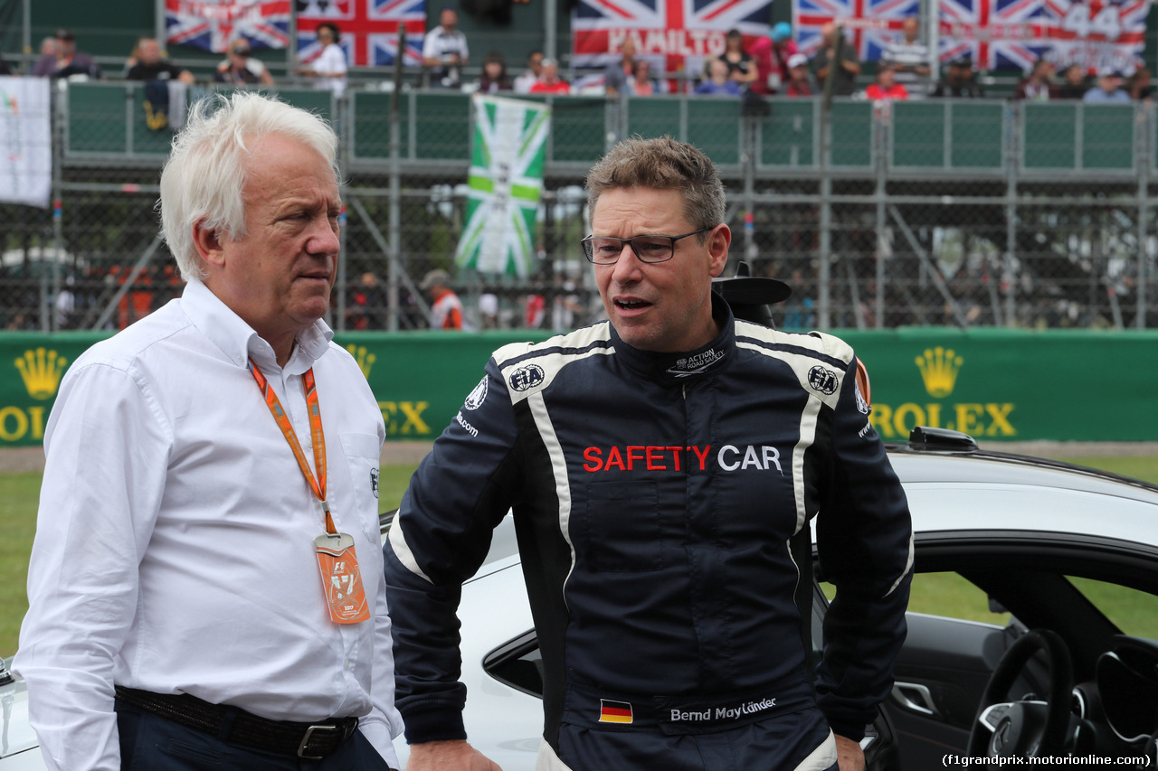 GP GRAN BRETAGNA, 16.07.2017 - Gara, Charlie Whiting (GBR), Gara director e safety delegate  e Bernd Maylander (GER) FIA Safety Car Driver