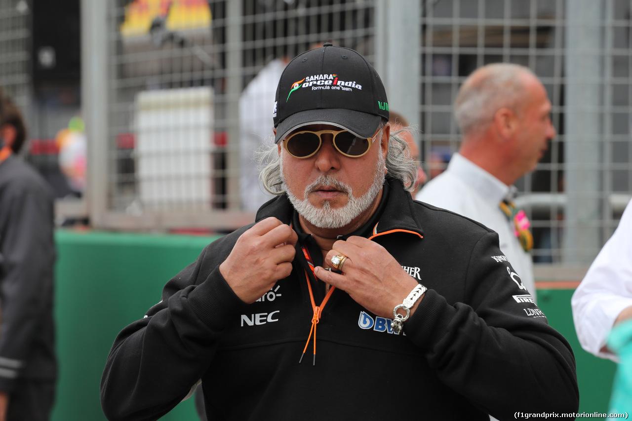 GP GRAN BRETAGNA, 16.07.2017 - Gara, Vijay Mallya (IND), Sahara Force India F1 Team Owner
