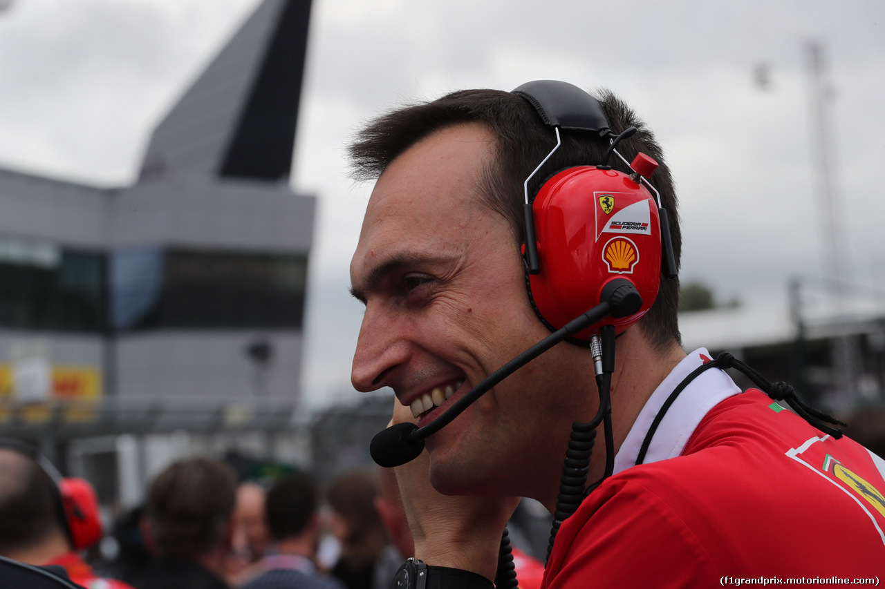 GP GRAN BRETAGNA, 16.07.2017 - Gara, Riccardo Adami (ITA) Ferrari Gara Engineer