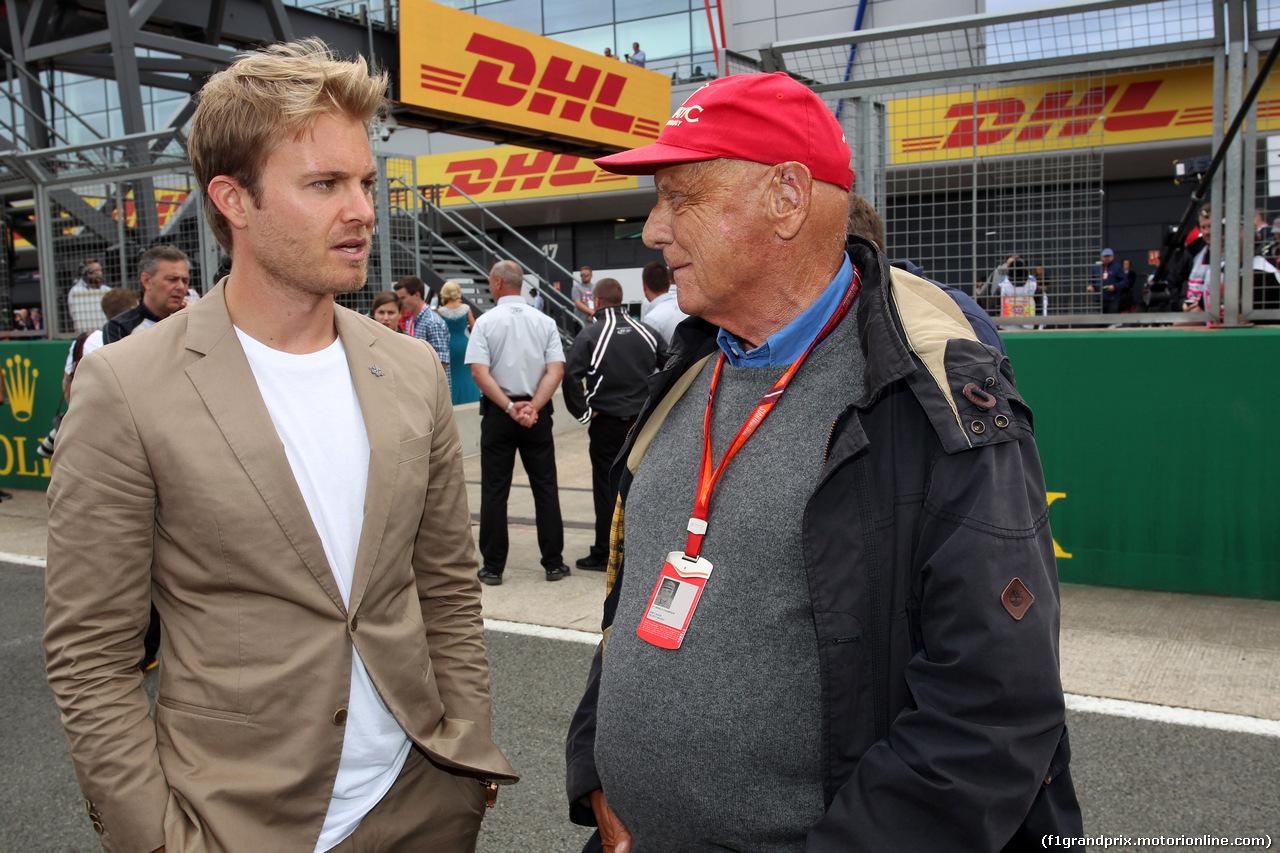 GP GRAN BRETAGNA, 16.07.2017 - Gara, Nico Rosberg (GER) e Nikki Lauda (AU), Mercedes