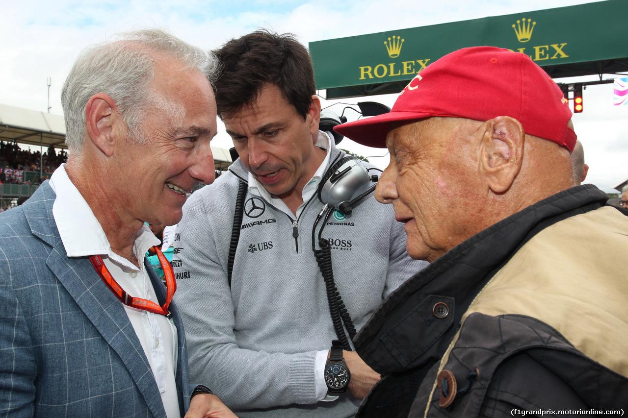 GP GRAN BRETAGNA, 16.07.2017 - Gara, Toto Wolff (GER) Mercedes AMG F1 Shareholder e Executive Director e Nikki Lauda (AU), Mercedes