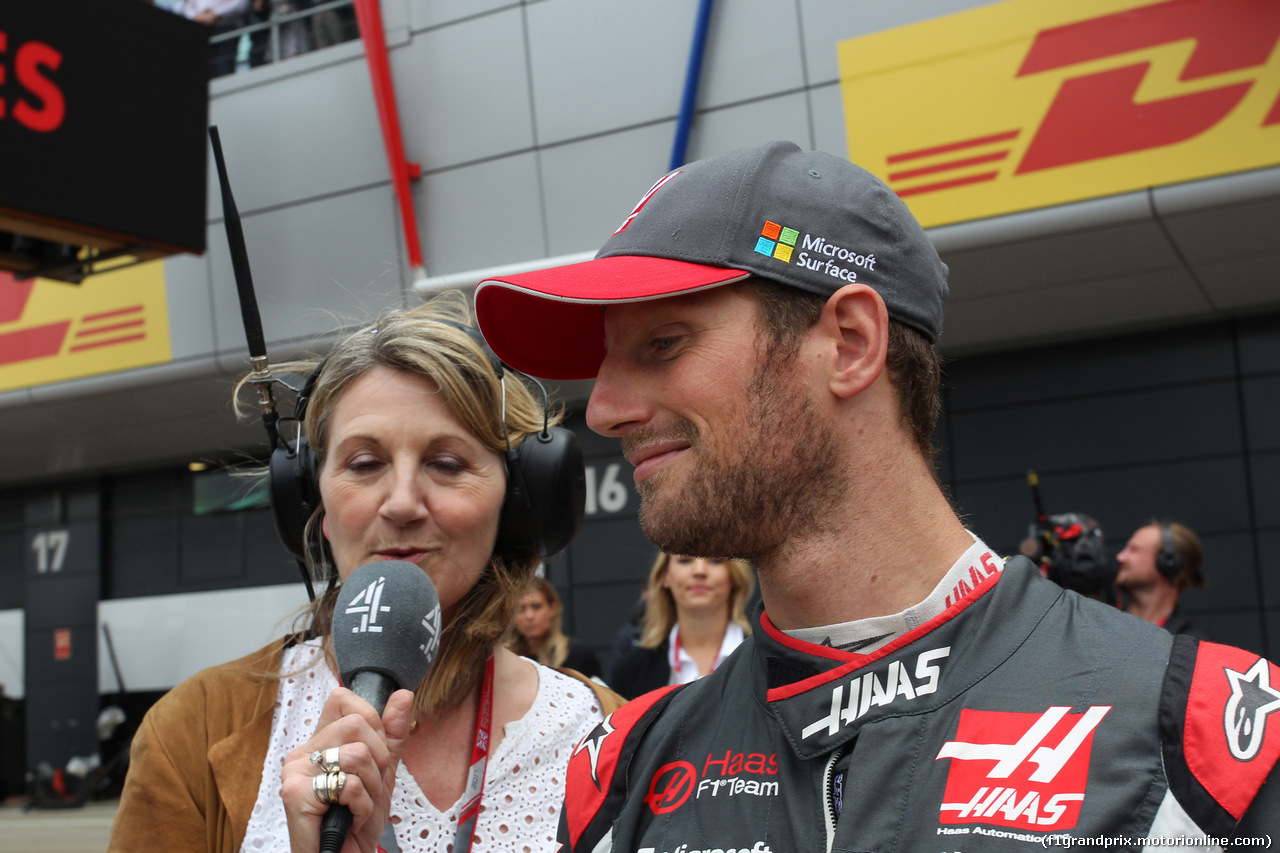 GP GRAN BRETAGNA, 16.07.2017 - Gara, Romain Grosjean (FRA) Haas F1 Team VF-17