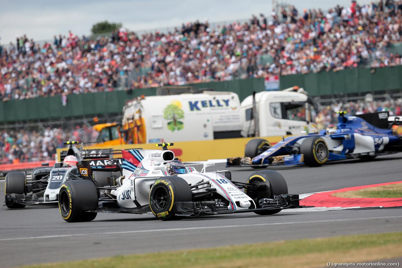 GP GRAN BRETAGNA, 16.07.2017 - Gara, Lance Stroll (CDN) Williams FW40