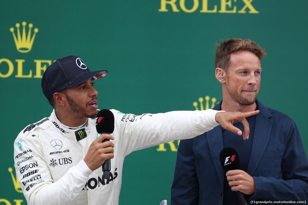 GP GRAN BRETAGNA, 16.07.2017 - Gara, Lewis Hamilton (GBR) Mercedes AMG F1 W08 vincitore e Jenson Button (GBR) McLaren MCL32