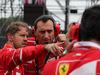 GP GRAN BRETAGNA, 16.07.2017 - Gara, Sebastian Vettel (GER) Ferrari SF70H e Riccardo Adami (ITA) Ferrari Gara Engineer