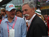 GP GRAN BRETAGNA, 16.07.2017 - Gara, Owen Wilson (USA) Actor e Chase Carey (USA) Formula One Group Chairman