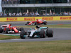 GP GRAN BRETAGNA, 16.07.2017 - Gara, Lewis Hamilton (GBR) Mercedes AMG F1 W08 davanti a Kimi Raikkonen (FIN) Ferrari SF70H e Sebastian Vettel (GER) Ferrari SF70H