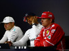 GP GRAN BRETAGNA, 16.07.2017 - Gara, Conferenza Stampa, Valtteri Bottas (FIN) Mercedes AMG F1 W08, Lewis Hamilton (GBR) Mercedes AMG F1 W08 e Kimi Raikkonen (FIN) Ferrari SF70H