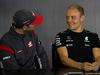 GP GRAN BRETAGNA, 13.07.2017 - Conferenza Stampa, Romain Grosjean (FRA) Haas F1 Team VF-17 e Valtteri Bottas (FIN) Mercedes AMG F1 W08