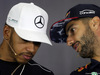 GP GRAN BRETAGNA, 13.07.2017 - Conferenza Stampa, Lewis Hamilton (GBR) Mercedes AMG F1 W08 e Daniel Ricciardo (AUS) Red Bull Racing RB13