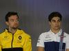 GP GRAN BRETAGNA, 13.07.2017 - Conferenza Stampa, Jolyon Palmer (GBR) Renault Sport F1 Team RS17 e Lance Stroll (CDN) Williams FW40