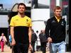 GP GRAN BRETAGNA, 14.07.2017 - Jolyon Palmer (GBR) Renault Sport F1 Team RS17 e Sergey Sirotkin (RUS) Test driver, Renault Sport F1 Team