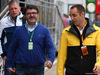 GP GRAN BRETAGNA, 15.07.2017 - Luis Garcia Abad (ESP), manager of Fernando Alonso (ESP) e Cyril Abiteboul (FRA) Renault Sport F1 Managing Director