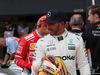 GP GRAN BRETAGNA, 15.07.2017 - Qualifiche, Lewis Hamilton (GBR) Mercedes AMG F1 W08 pole position e 3rd place Sebastian Vettel (GER) Ferrari SF70H
