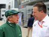 GP GRAN BRETAGNA, 15.07.2017 - Qualifiche, Sir Jackie Stewart (GBR) e Zak Brown (USA) McLaren Executive Director