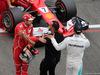 GP GRAN BRETAGNA, 15.07.2017 - Qualifiche, Sebastian Vettel (GER) Ferrari SF70H, Nicoals Hamilton e Lewis Hamilton (GBR) Mercedes AMG F1 W08