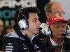 GP GRAN BRETAGNA, 14.07.2017 - Free Practice 2, Toto Wolff (GER) Mercedes AMG F1 Shareholder e Executive Director e Nikki Lauda (AU), Mercedes