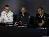 GP GRAN BRETAGNA, 14.07.2017 - Conferenza Stampa, Andy Cowell, Mercedes; Jonathan Neale, Mclaren e Cyril Abiteboul (FRA) Renault Sport F1 Managing Director