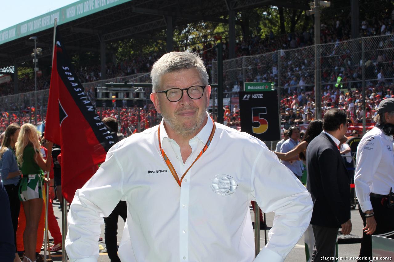 GP ITALIA, 03.09.2017- Gara, partenzaing grid Ross Brawn (GBR) Formula One Managing Director of Motorsports