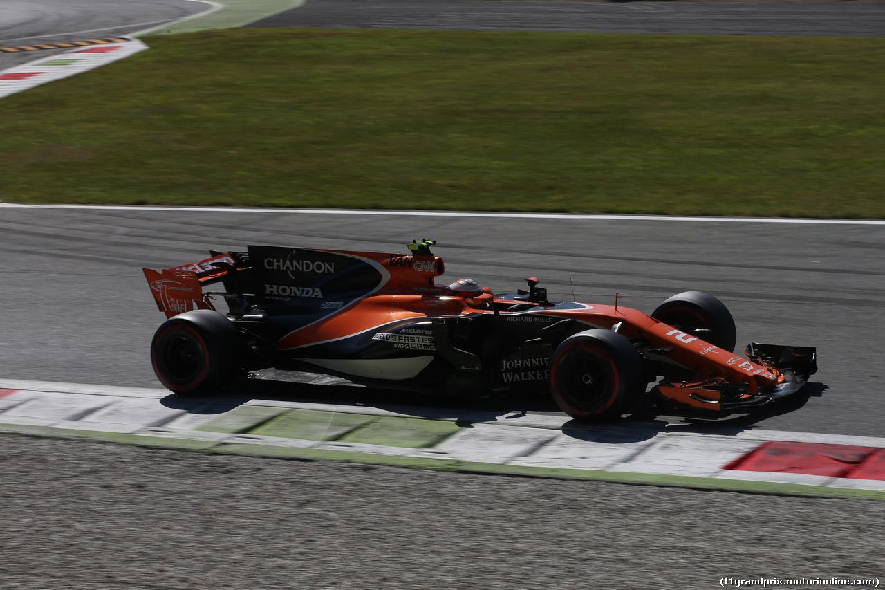 GP ITALIA, 03.09.2017- Gara, Stoffel Vandoorne (BEL) McLaren MCL32