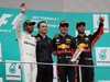 GP MALESIA, 01.10.2017 - Gara, 1st place Max Verstappen (NED) Red Bull Racing RB13, 2nd place Lewis Hamilton (GBR) Mercedes AMG F1 W08 e 3rd place Daniel Ricciardo (AUS) Red Bull Racing RB13