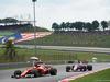 GP MALESIA, 01.10.2017 - Gara, Sebastian Vettel (GER) Ferrari SF70H e Sergio Perez (MEX) Sahara Force India F1 VJM010