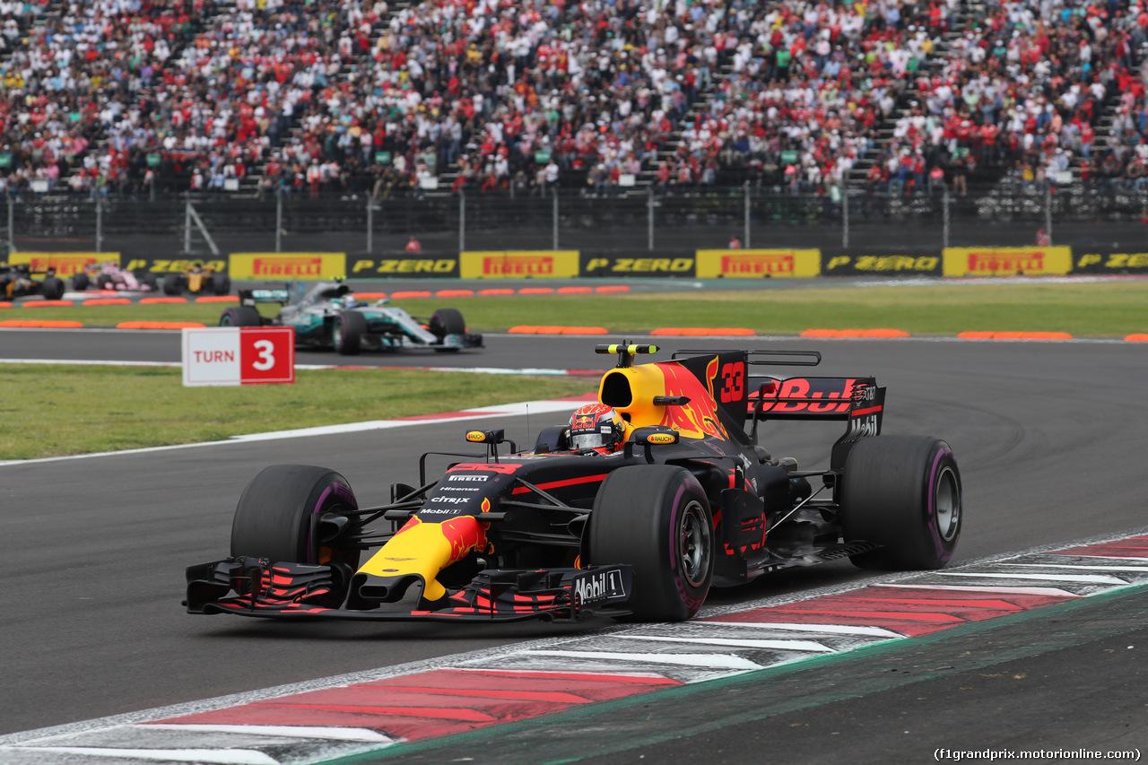 GP MESSICO, 29.10.2017 - Gara, Max Verstappen (NED) Red Bull Racing RB13