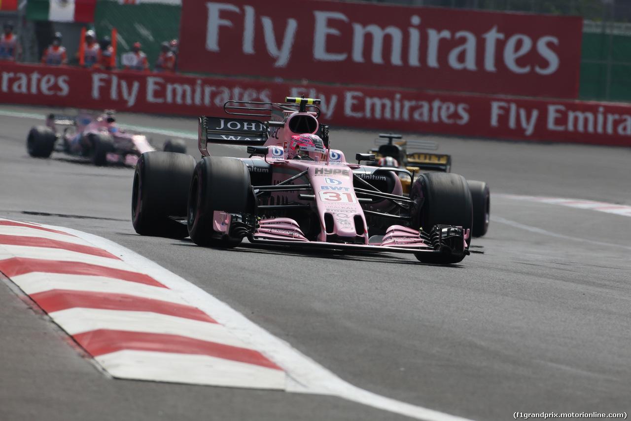 GP MESSICO, 29.10.2017 - Gara, Esteban Ocon (FRA) Sahara Force India F1 VJM10