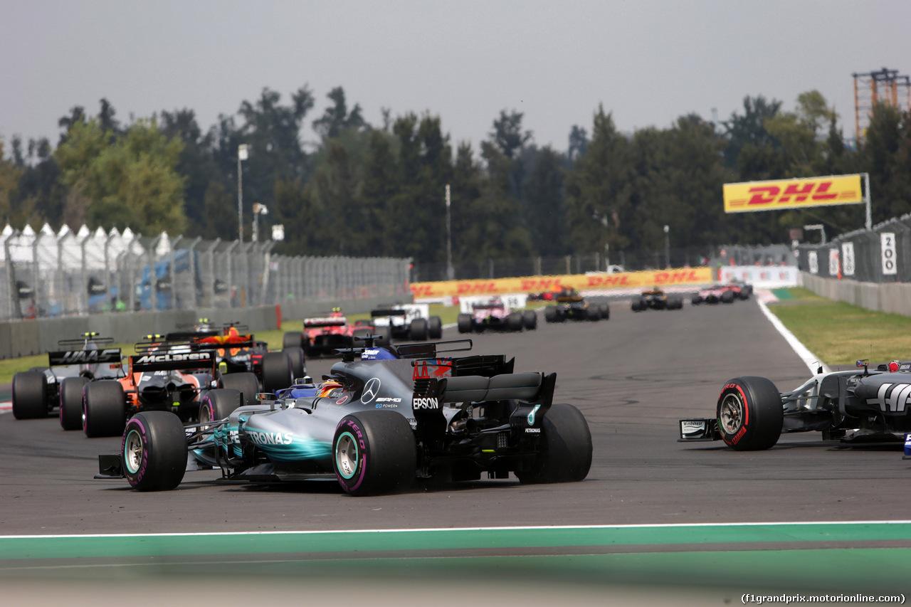 GP MESSICO, 29.10.2017 - Gara, Lewis Hamilton (GBR) Mercedes AMG F1 W08