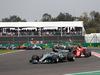 GP MESSICO, 29.10.2017 - Gara, Valtteri Bottas (FIN) Mercedes AMG F1 W08 davanti a Sebastian Vettel (GER) Ferrari SF70H