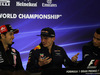 GP MESSICO, 26.10.2017 - Conferenza Stampa, Sergio Perez (MEX) Sahara Force India F1 VJM010, Max Verstappen (NED) Red Bull Racing RB13 e Pascal Wehrlein (GER) Sauber C36