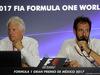 GP MESSICO, 26.10.2017 - Charlie Whiting (GBR) FIA Delegate e Matteo Bonciani (ITA) FIA Media Delegate in an FIA Press Conference regarding track limits.