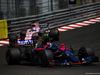 GP MONACO, 28.05.2017 - Gara, Carlos Sainz Jr (ESP) Scuderia Toro Rosso STR12 e Sergio Perez (MEX) Sahara Force India F1 VJM010