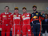 GP MONACO, 28.05.2017 - Gara, Riccardo Adami (ITA) Ferrari Gara Engineer, 2nd place Kimi Raikkonen (FIN) Ferrari SF70H, Sebastian Vettel (GER) Ferrari SF70H vincitore e 3rd place Daniel Ricciardo (AUS) Red Bull Racing RB13